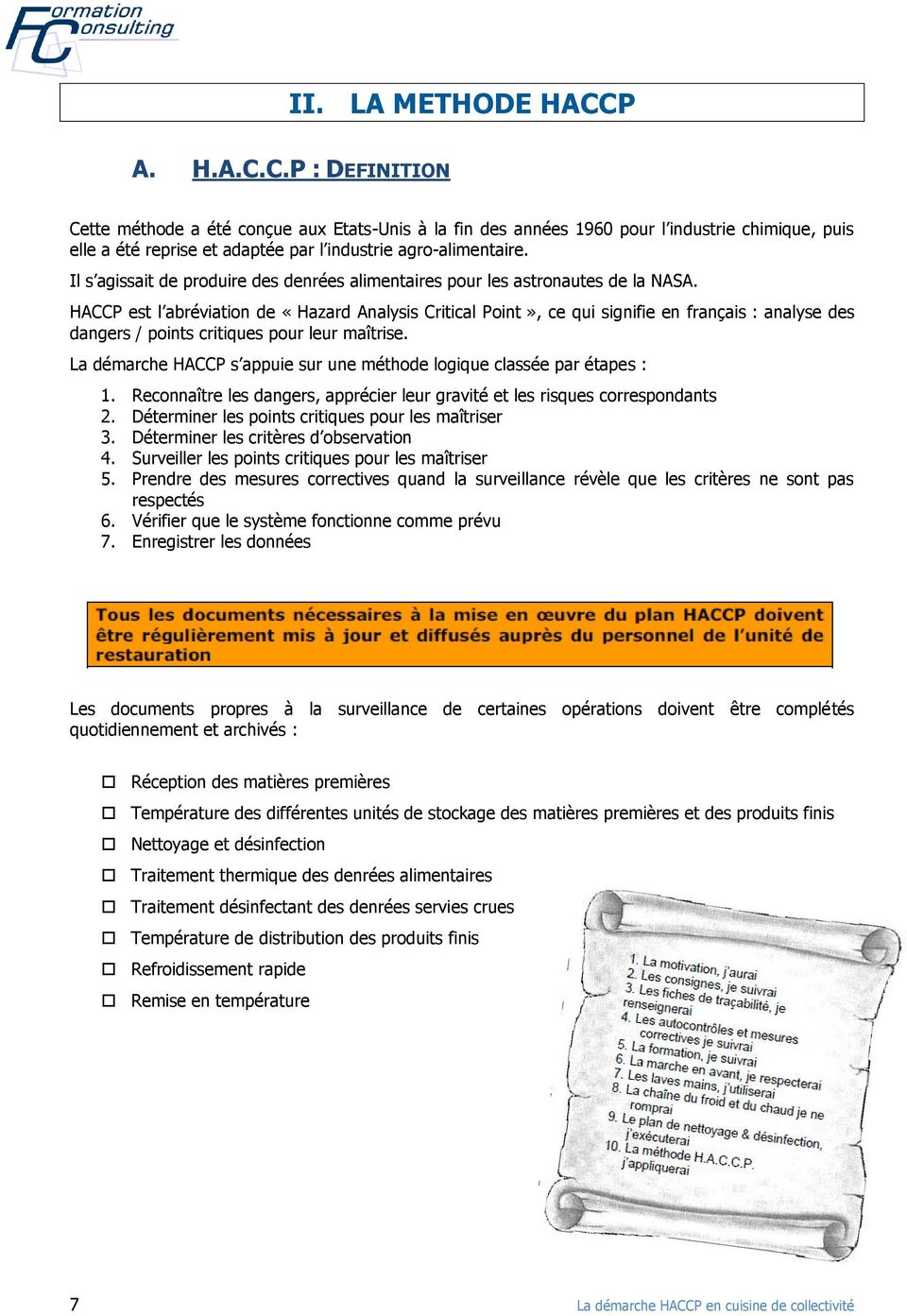 fiches types haccp