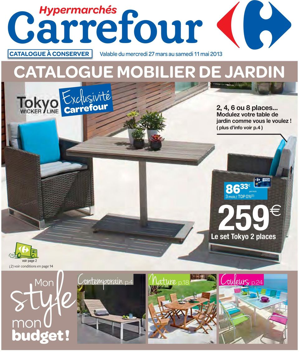 catalogue mobilier de jardin pdf. Black Bedroom Furniture Sets. Home Design Ideas