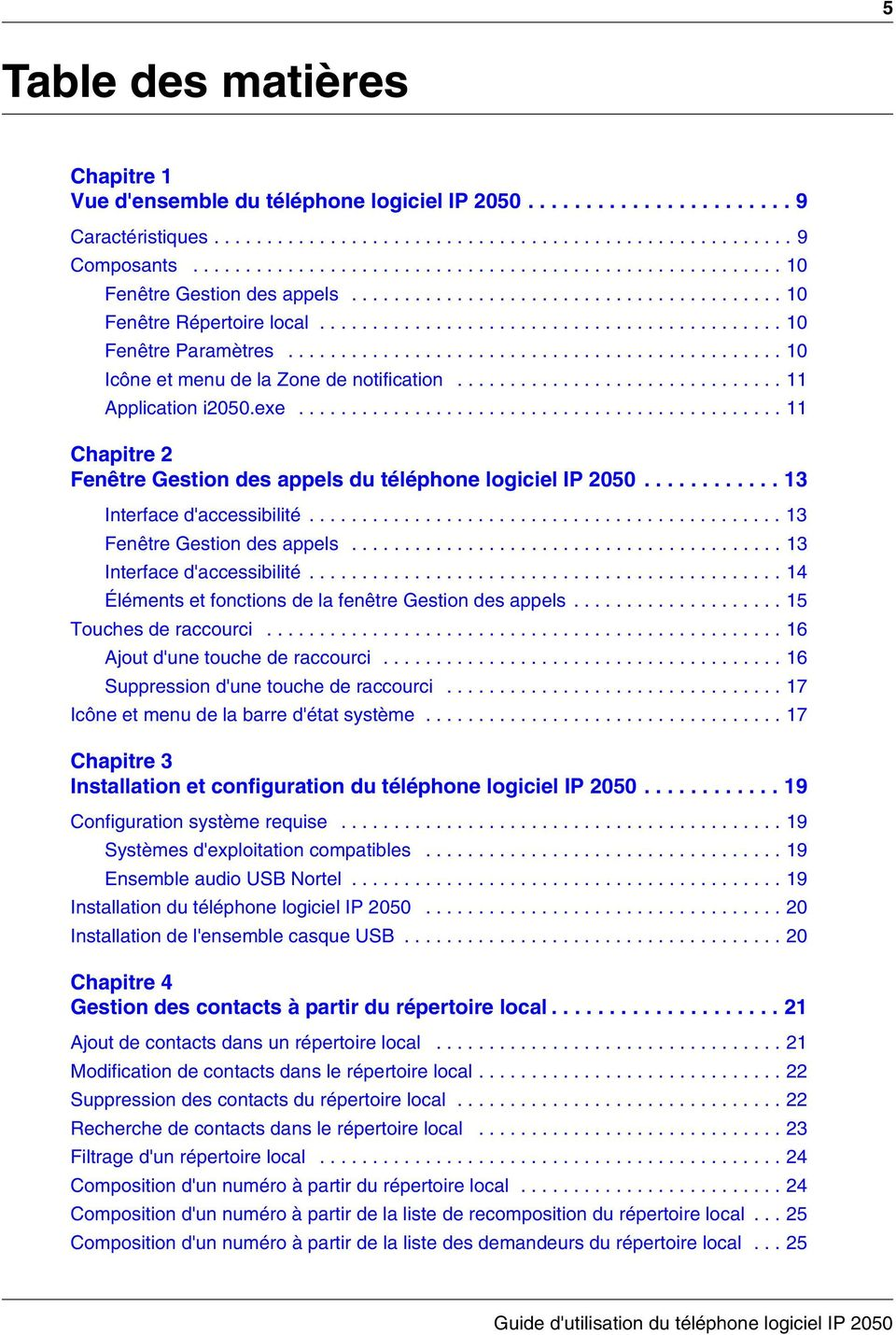 .............................................. 10 Icône et menu de la Zone de notification............................... 11 Application i2050.exe.