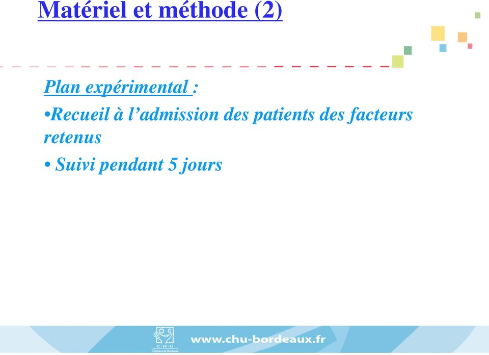 admission des patients des