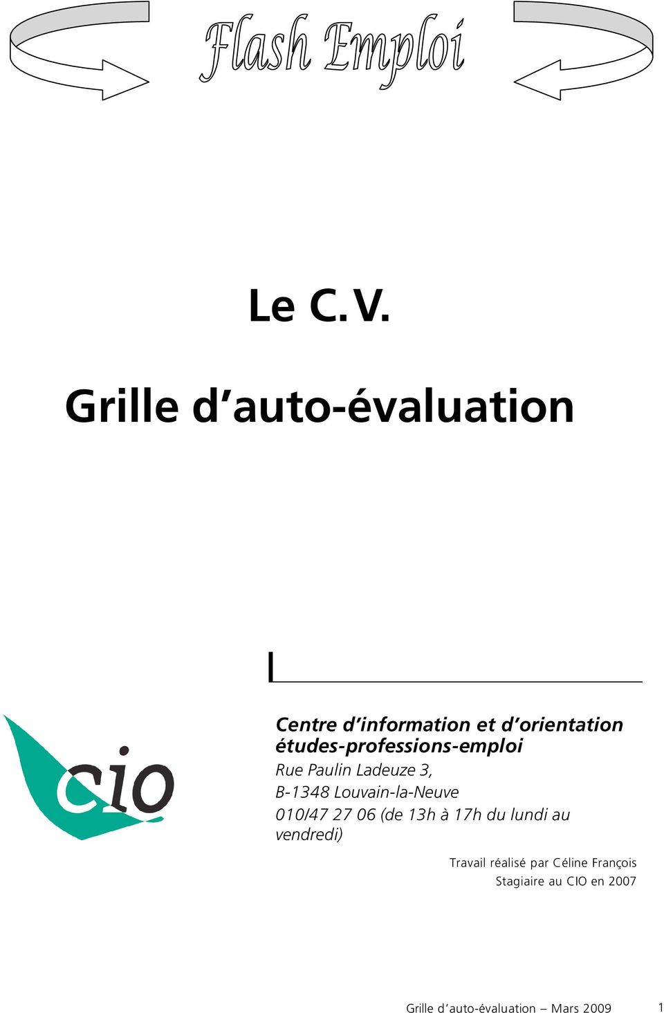 le c v  grille d auto- u00e9valuation