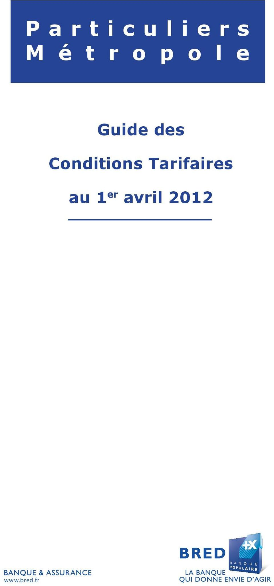 Conditions Tarifaires au