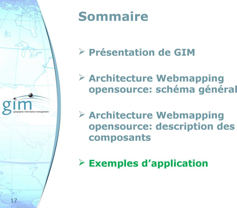 Architecture Webmapping opensource: