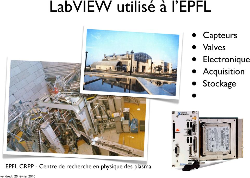 Acquisition Stockage EPFL CRPP -