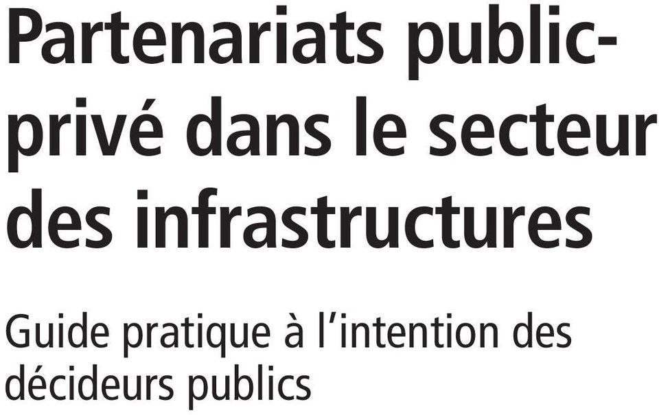 infrastructures Guide