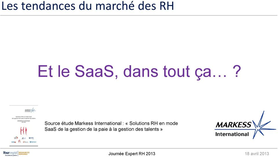 Source étude Markess International :