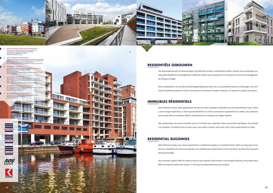 HET CLARENHOF, MECHELEN» Urban renewal project with development of private residential building (2 residences and 64 apartments) and underground parking - Bouwfonds (property development) WIT