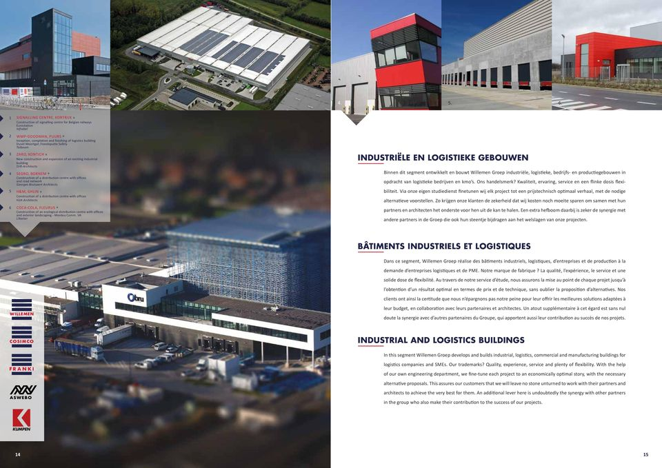 Moortgat /Vandeputte Safety Talboom ZARO, KONTICH» New construction and expansion of an existing industrial building SVR-Architects SEGRO, BORNEM» Construction of a distribution centre with offices