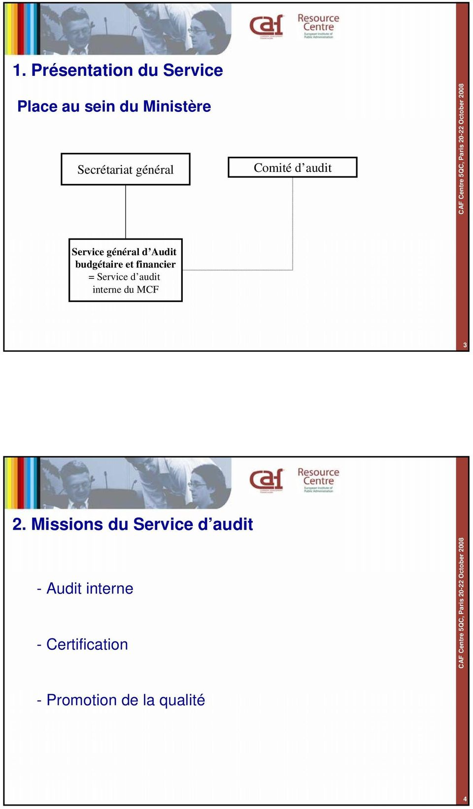 financier = Service d audit interne du MCF 3 2.
