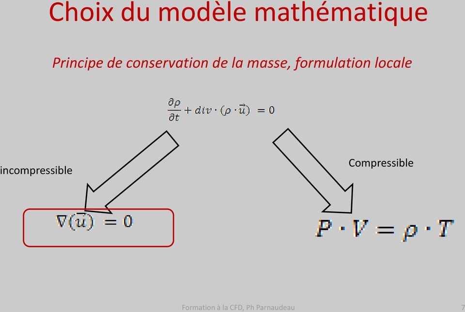 formulation locale incompressible