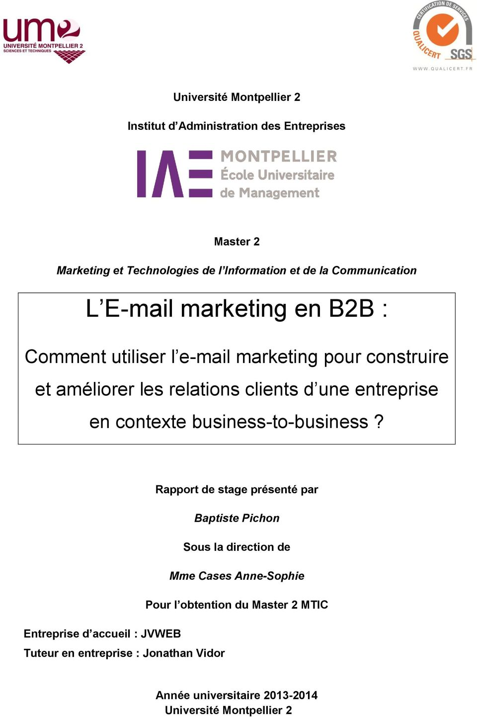 entreprise en contexte business-to-business?