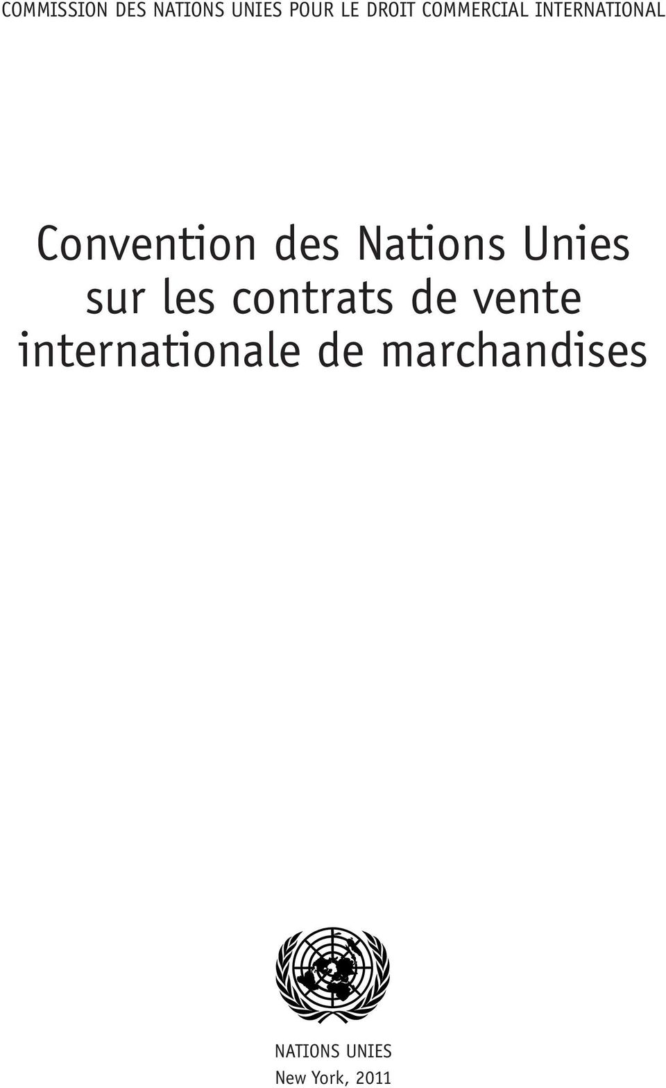 Nations Unies sur les contrats de vente
