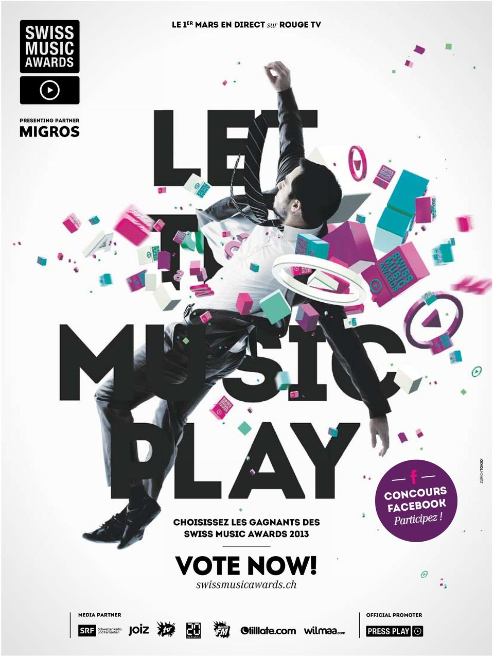AWARDS 2013 VOTE NOW! swissmusicawards.