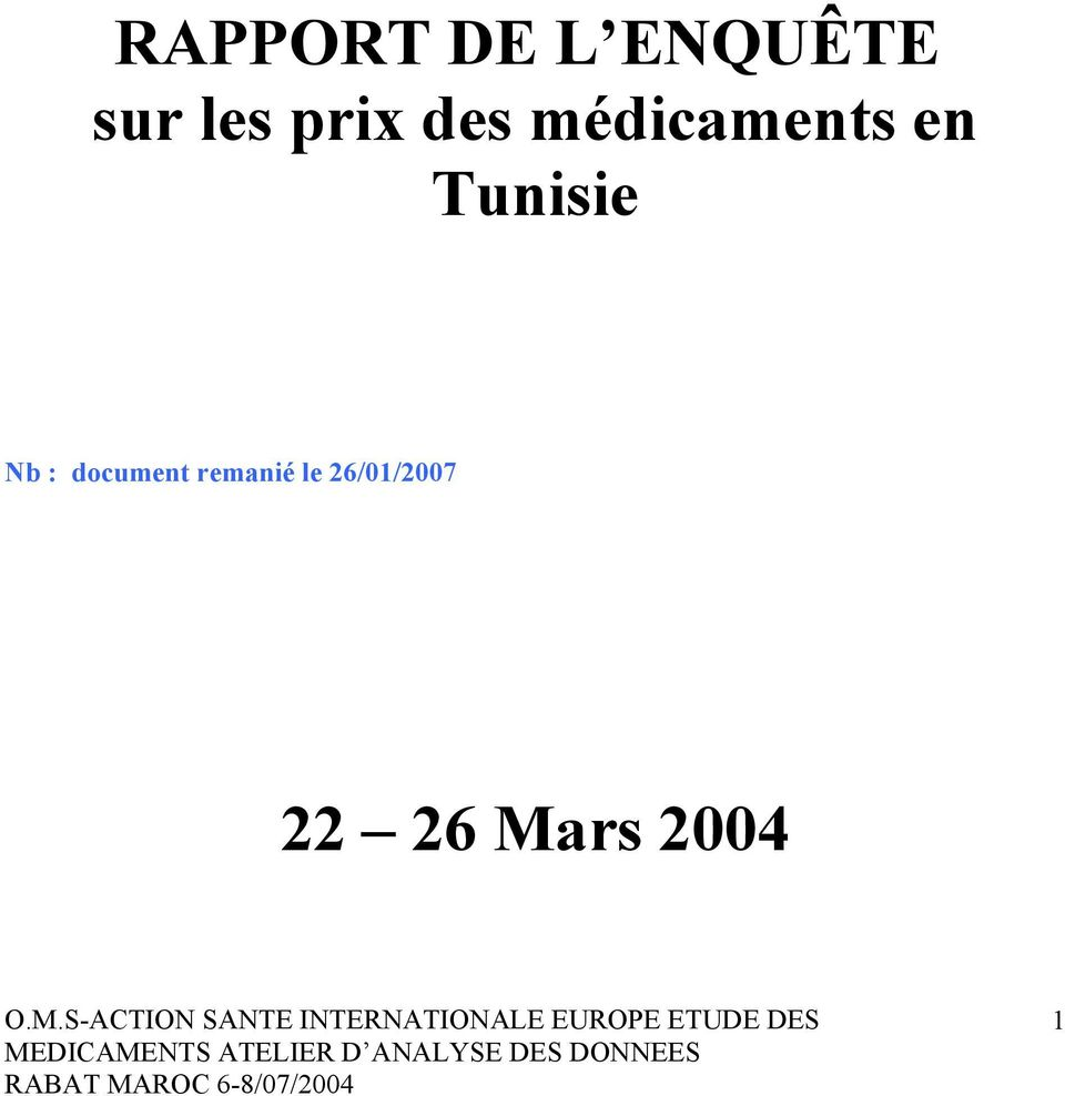 Tunisie Nb : document
