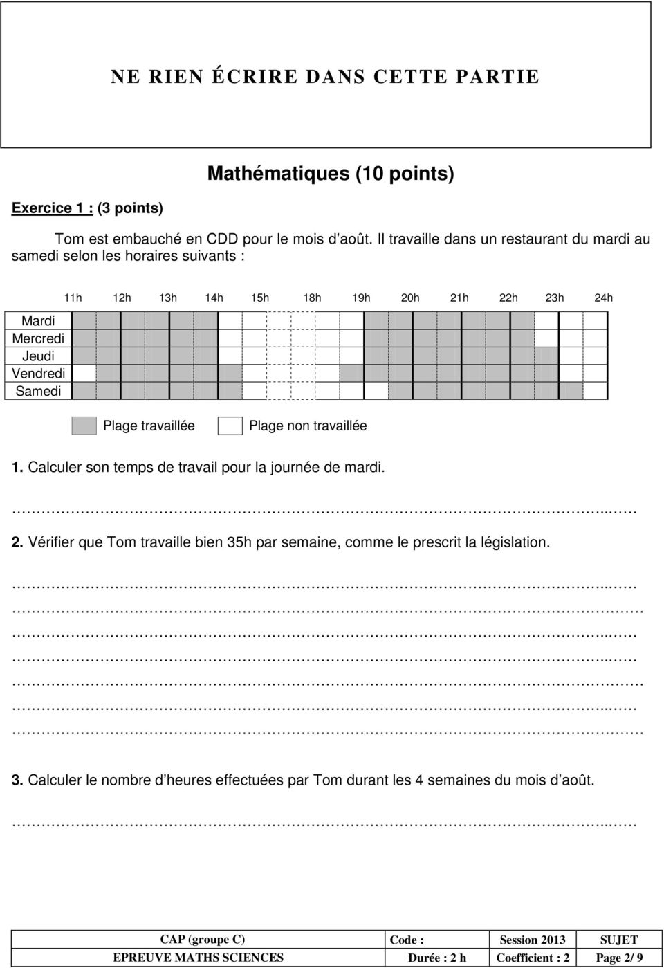 epreuve math matiques sciences pdf. Black Bedroom Furniture Sets. Home Design Ideas