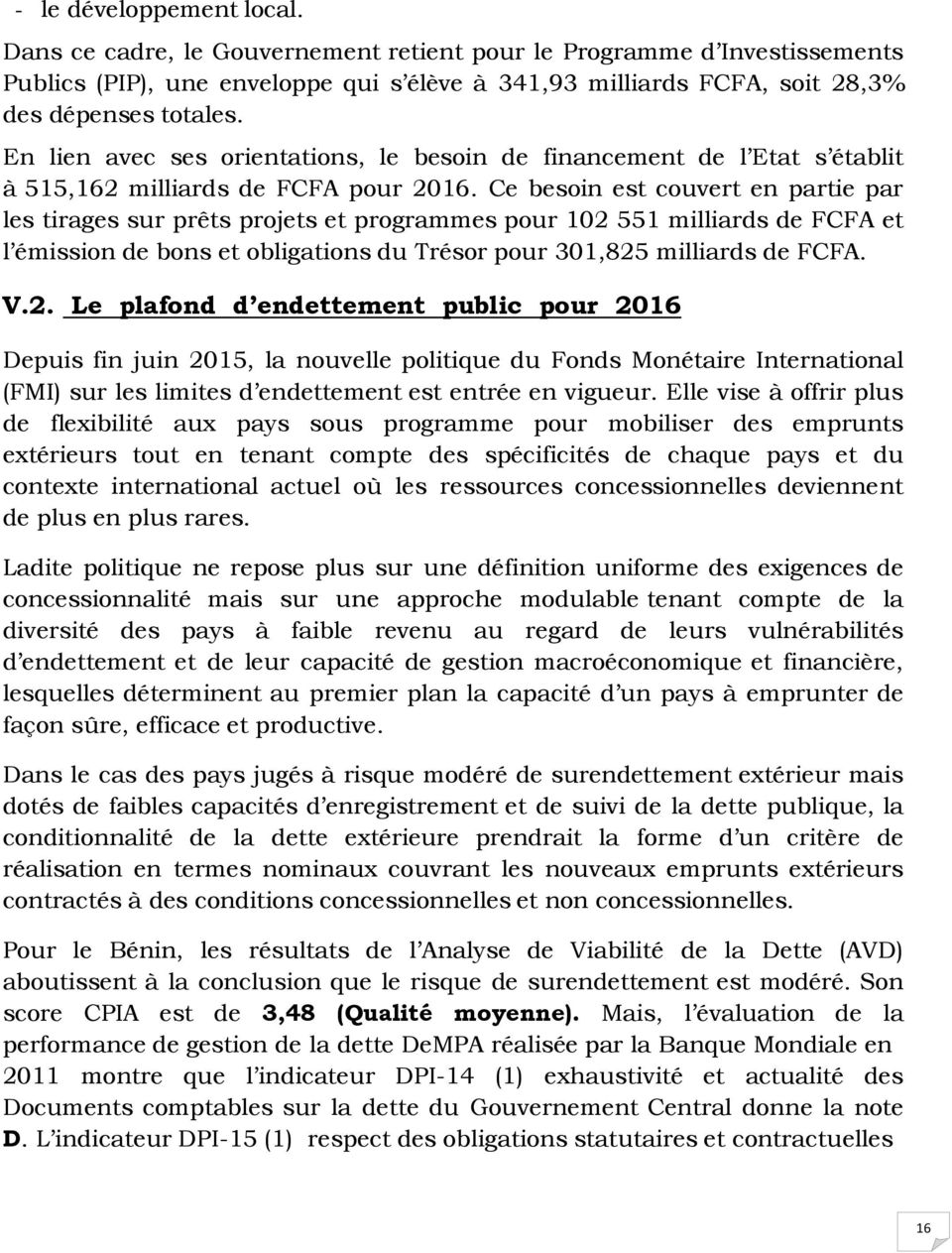 Document de strategie d endettement public de l annee pdf for Dette exterieur