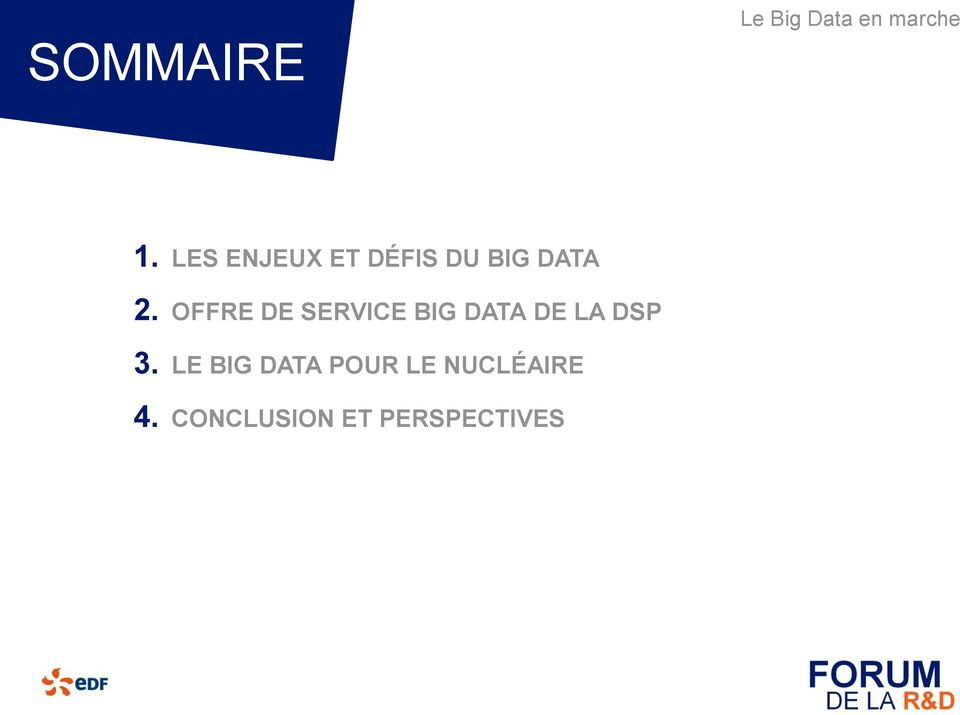 OFFRE DE SERVICE BIG DATA DE LA DSP
