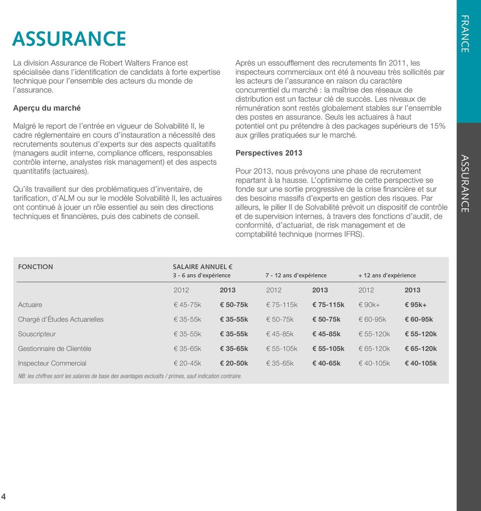 interne, compliance officers, responsables contrôle interne, analystes risk management) et des aspects quantitatifs (actuaires).
