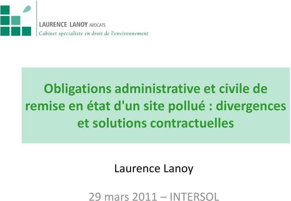 divergences et solutions