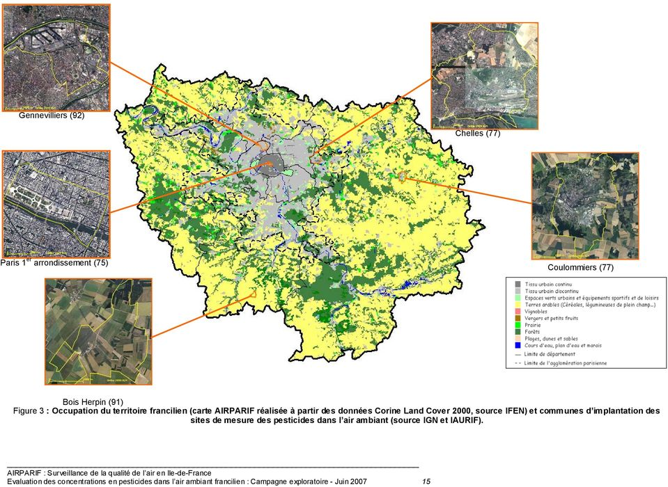 source IFEN) et communes d implantation des sites de mesure des pesticides dans l air ambiant (source IGN et
