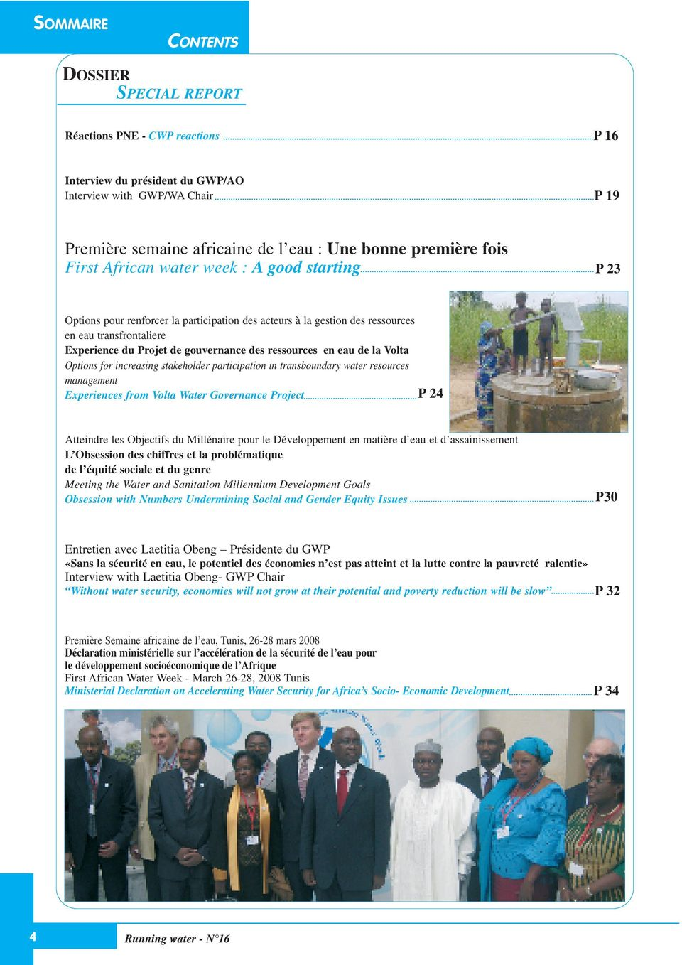 eau de la Volta Options for increasing stakeholder participation in transboundary water resources management Experiences from Volta Water Governance Project P24 Atteindre les Objectifs du Millénaire