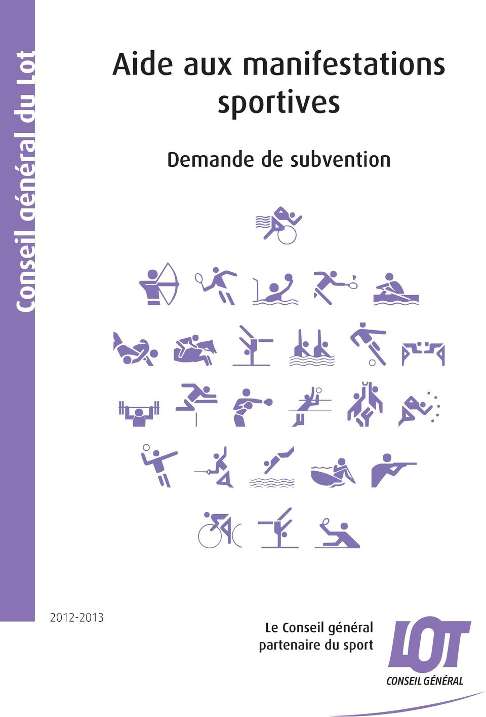 Demande de subvention 2012-2013