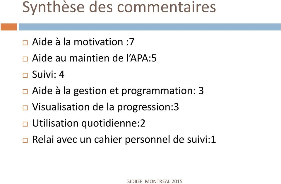 programmation: 3 Visualisation de la progression:3