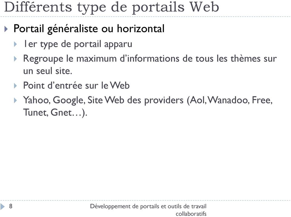 site. Point d entrée sur le Web Yahoo, Google, Site Web des providers (Aol,
