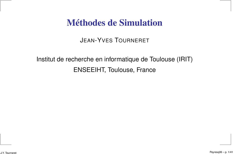 informatique de Toulouse (IRIT)