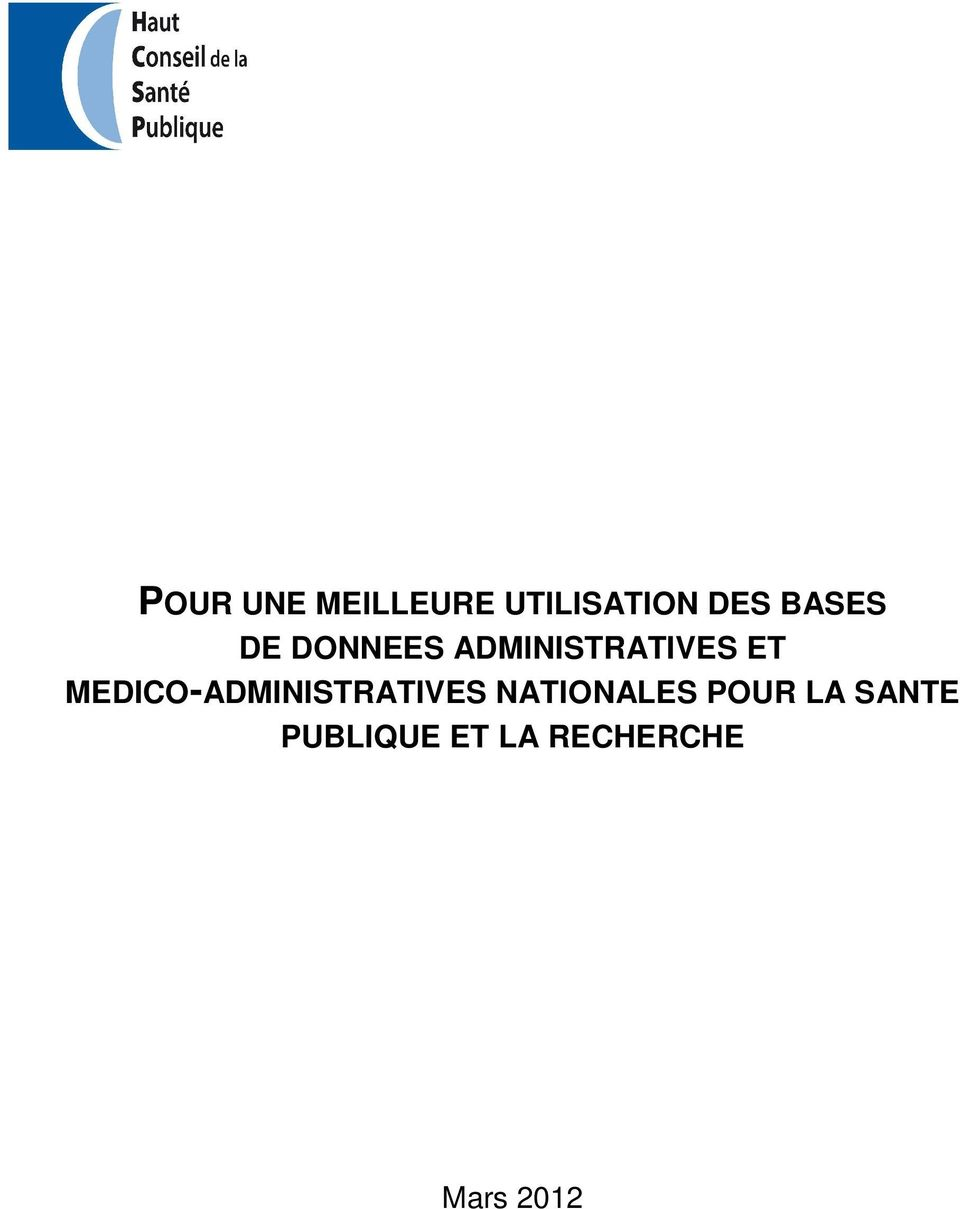 MEDICO-ADMINISTRATIVES NATIONALES POUR