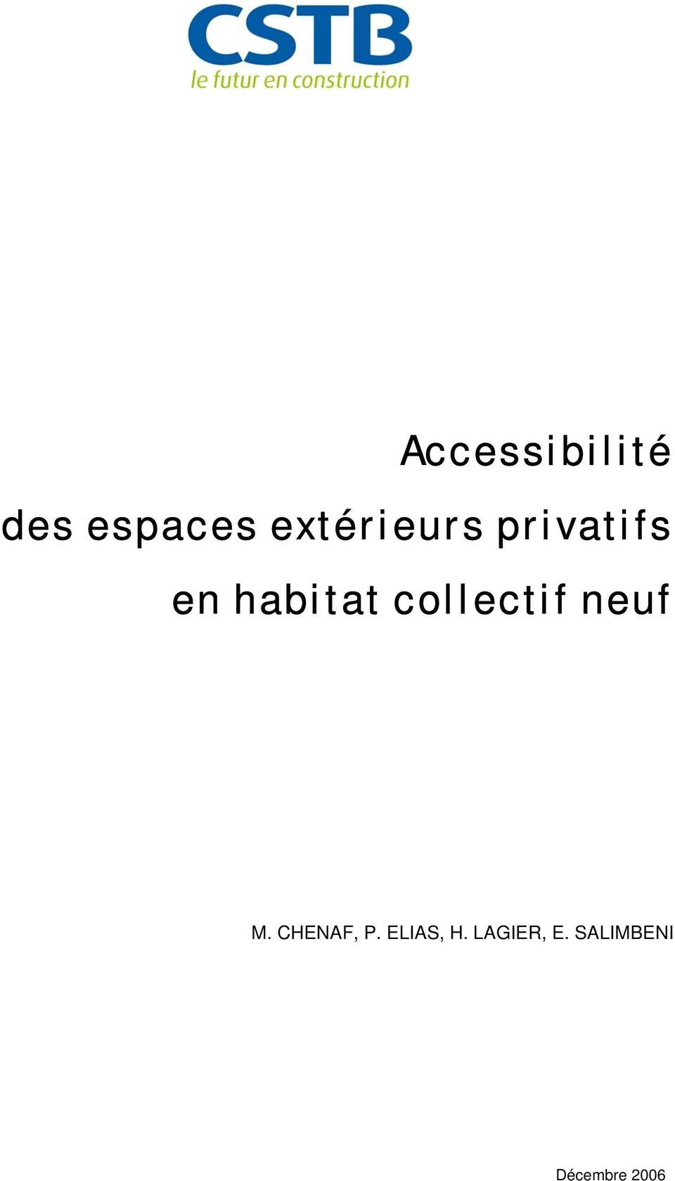 collectif neuf M. CHENAF, P.
