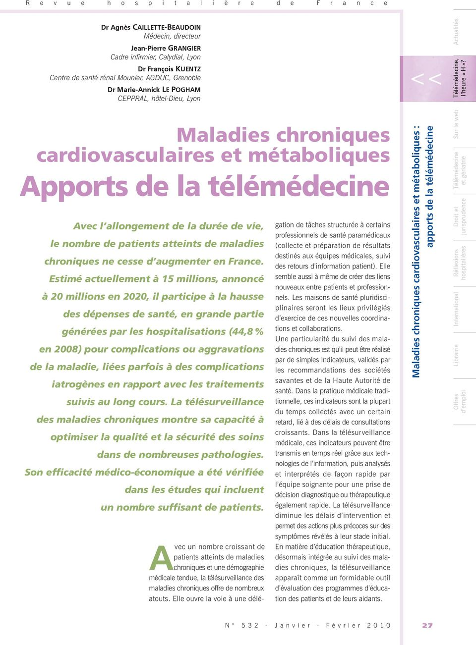 de patients atteints de maladies chroniques ne cesse d augmenter en France.