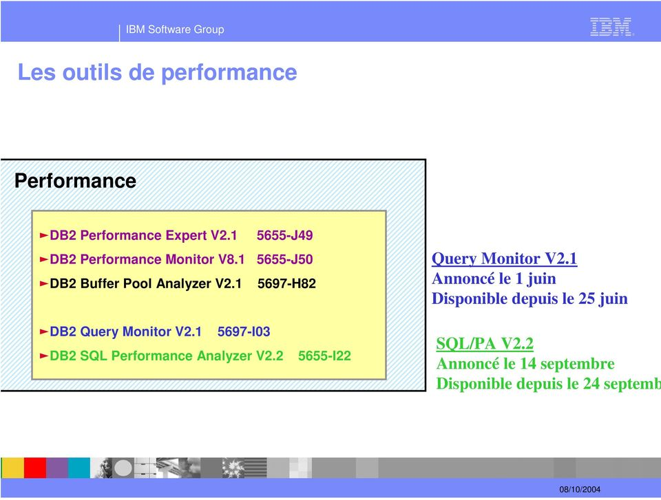 1 5697-H82 cdb2 Query Monitor V2.1 5697-I03 cdb2 SQL Performance Analyzer V2.