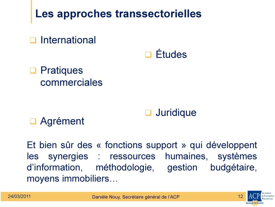 synergies : ressources humaines, systèmes d information, méthodologie, gestion