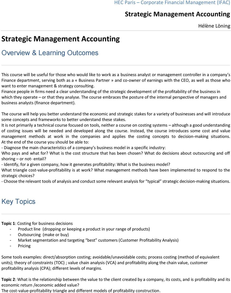 want to enter management & strategy consulting.