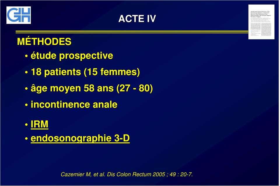 (27-80) incontinence anale IRM