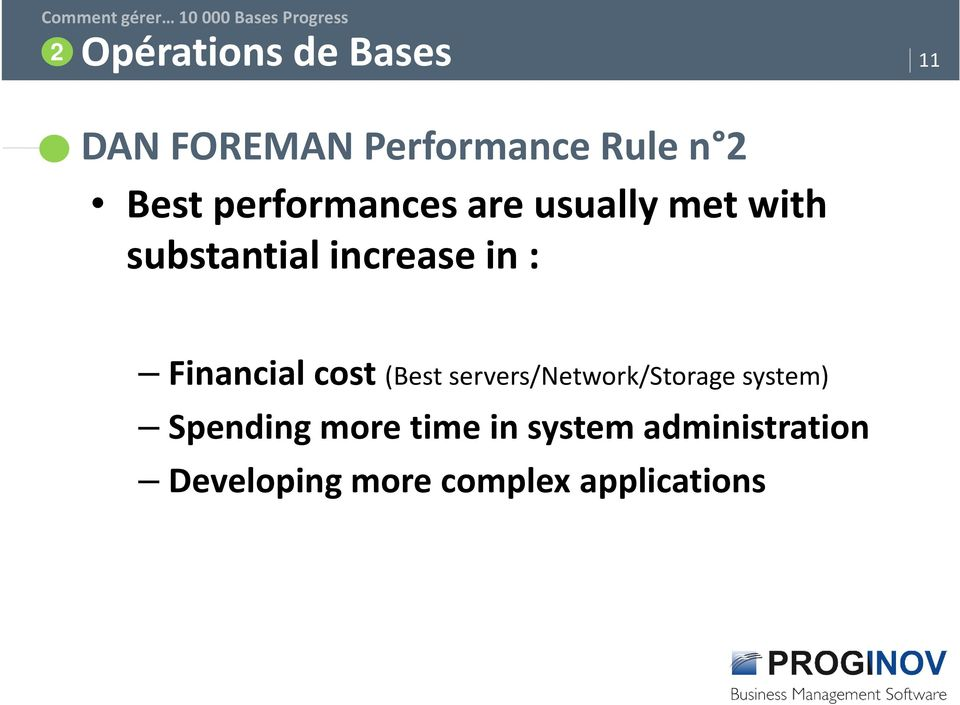 Financial cost (Best servers/network/storage system) Spending