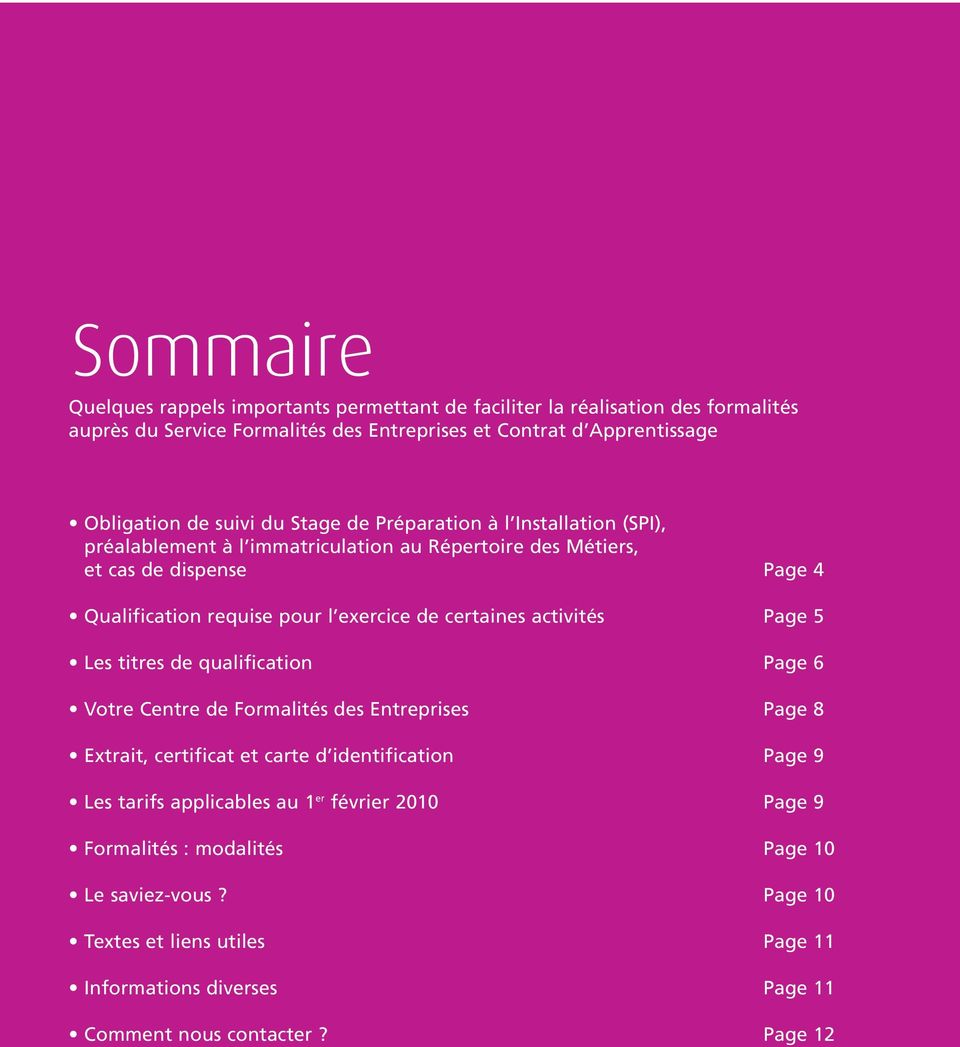 Le guide des formalit s pdf for Extrait immatriculation chambre des metiers