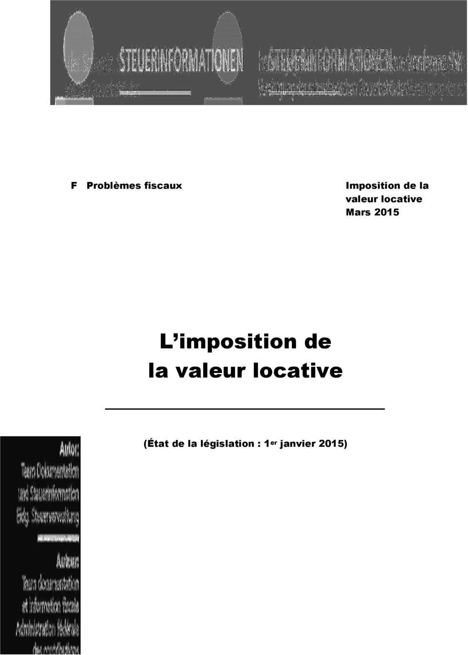 imposition de la valeur locative
