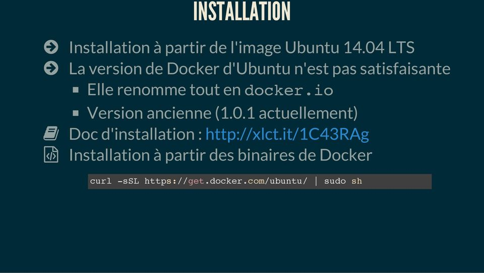 en docker.io Version ancienne (1.0.