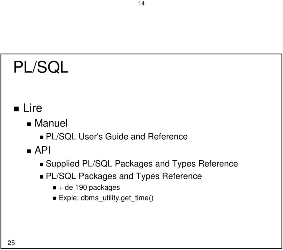 Types Reference PL/SQL Packages and Types