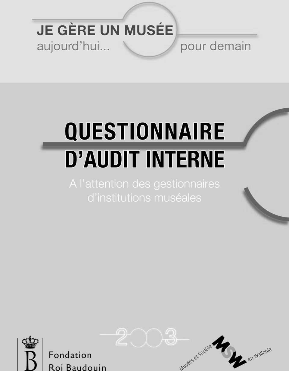 AUDIT INTERNE A l attention des
