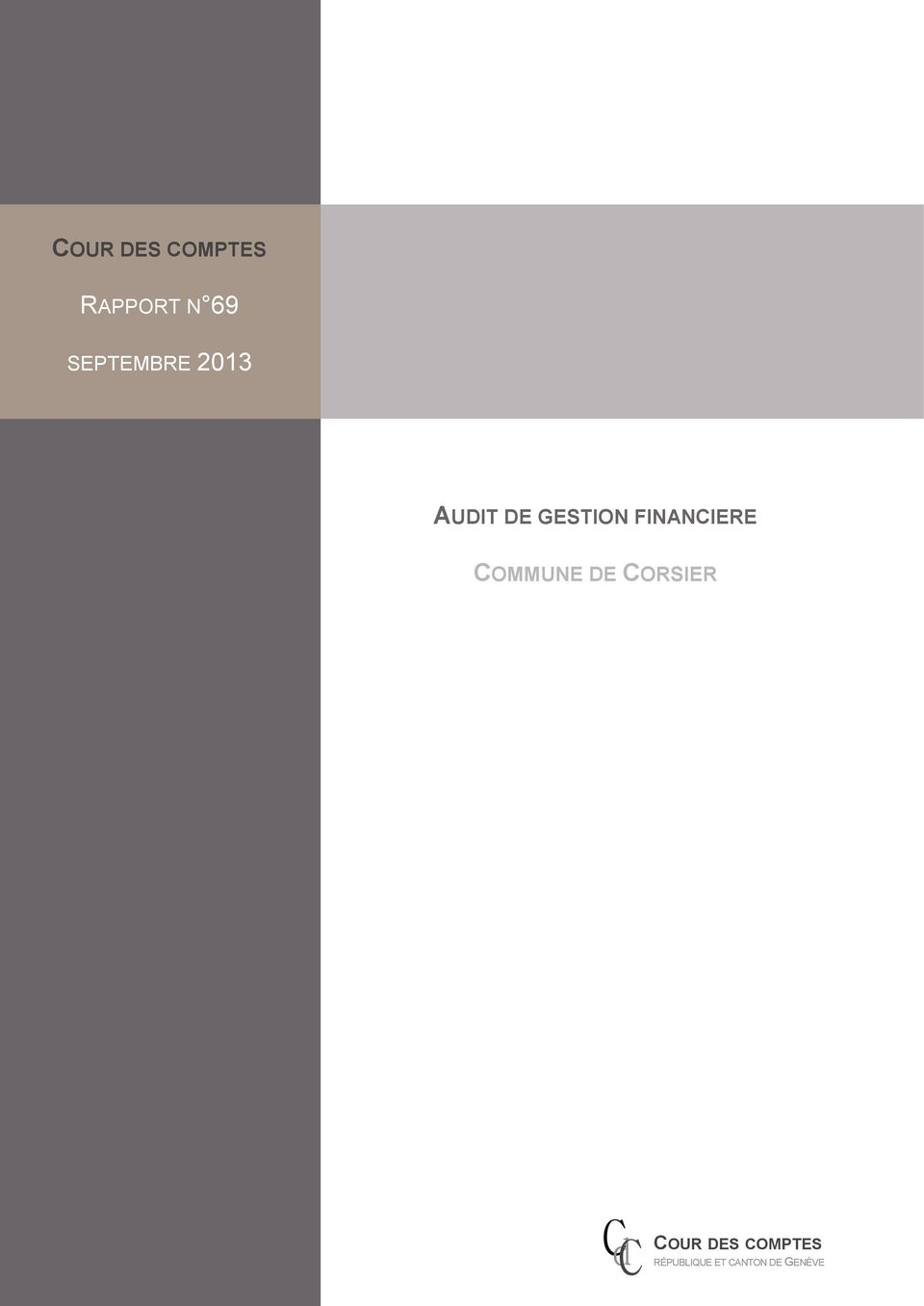 AUDIT DE GESTION