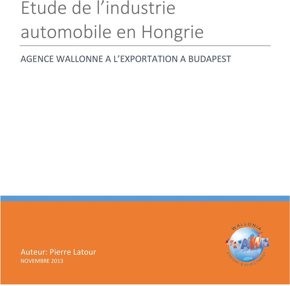 WALLONNE A L EXPORTATION A