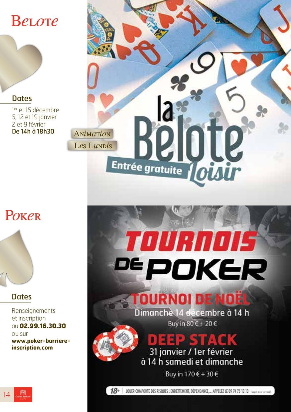 Poker Dates Renseignements et inscription au 02.99.