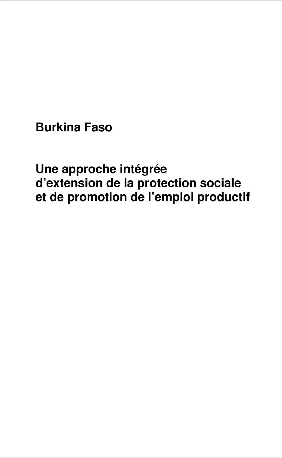 protection sociale et de