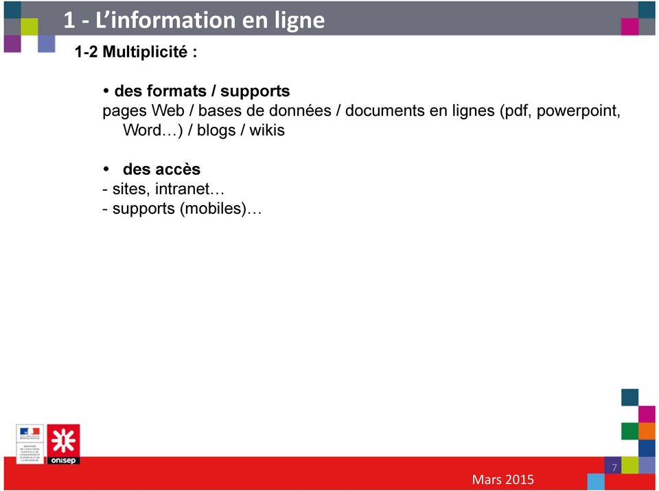 documents en lignes (pdf, powerpoint, Word ) / blogs