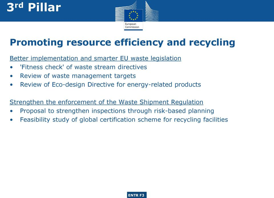 for energy-related products Strengthen the enforcement of the Waste Shipment Regulation Proposal to strengthen