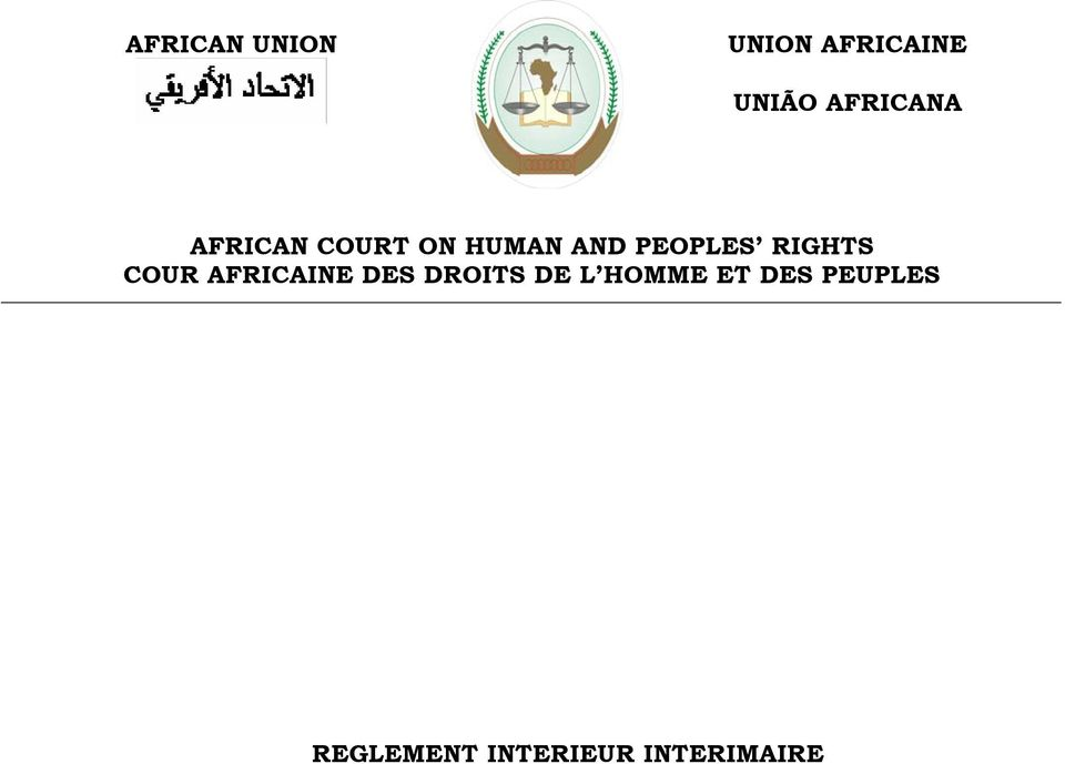 PEOPLES RIGHTS COUR AFRICAINE DES DROITS