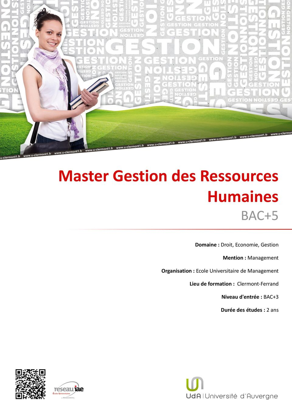: Ecole Universitaire de Management Lieu de formation :